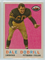 1959 Topps Football 34 Dale Dodrill Pittsburgh Steelers Excellent to Mint