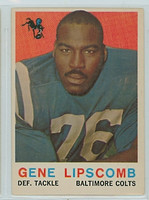 1959 Topps Football 36 Gene Lipscomb ROOKIE Baltimore Colts Excellent