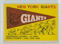 1959 Topps Football 53 Giants Pennant Excellent