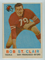 1959 Topps Football 58 Bob St. Clair San Francisco 49ers Excellent