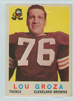 1959 Topps Football 60 Lou Groza Cleveland Browns Very Good to Excellent