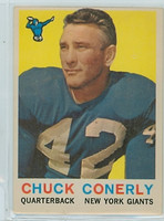 1959 Topps Football 65 Charley Conerly New York Giants Very Good