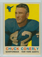 1959 Topps Football 65 Charley Conerly New York Giants Excellent to Mint