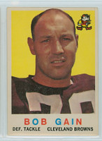 1959 Topps Football 77 Bob Gain ROOKIE Cleveland Browns Very Good
