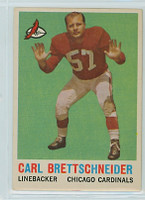 1959 Topps Football 81 Carl Brettschneider Chicago Cardinals Very Good to Excellent
