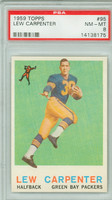 1959 Topps Football 95 Lew Carpenter ROOKIE Green Bay Packers PSA 8 Near Mint to Mint