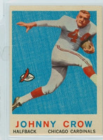 1959 Topps Football 105 Johnny Crow ROOKIE Chicago Cardinals Excellent