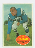 1960 Topps Football 5 Jim Parker Baltimore Colts Excellent to Mint