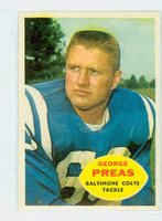 1960 Topps Football 6 George Preas Baltimore Colts Excellent to Mint