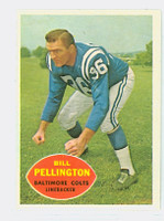 1960 Topps Football 8 Bill Pellington ROOKIE Baltimore Colts Excellent to Mint
