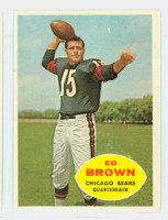 1960 Topps Football 12 Ed Brown Chicago Bears Excellent to Mint