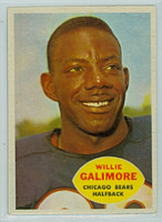 1960 Topps Football 14 Willie Galimore Chicago Bears Excellent