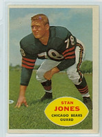 1960 Topps Football 17 Stan Jones Chicago Bears Excellent