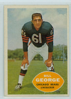 1960 Topps Football 18 Bill George Chicago Bears Very Good to Excellent