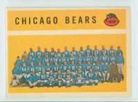 1960 Topps Football 21 Bears Team Excellent