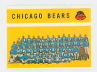 1960 Topps Football 21 Bears Team Near-Mint