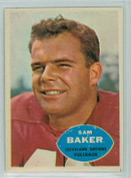 1960 Topps Football 24 Sam Baker Cleveland Browns Excellent