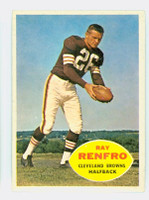 1960 Topps Football 26 Ray Renfro Cleveland Browns Excellent to Mint