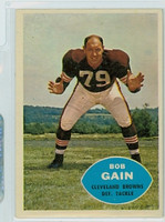 1960 Topps Football 30 Bob Gain Cleveland Browns Excellent