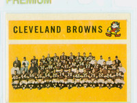 1960 Topps Football 31 Browns Team Excellent