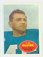 1960 Topps Football 35 L.g. Dupre Dallas Cowboys Excellent to Excellent Plus