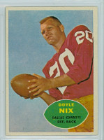 1960 Topps Football 39 Doyle Nix Dallas Cowboys Excellent to Excellent Plus