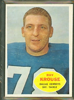 1960 Topps Football 40 Ray Krouse Dallas Cowboys Excellent to Mint