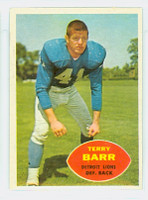 1960 Topps Football 47 Terry Barr Detroit Lions Excellent to Mint