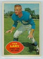 1960 Topps Football 48 Yale Lary Detroit Lions Excellent to Excellent Plus