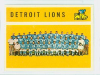 1960 Topps Football 50 Detroit Lions Excellent to Mint