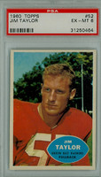 1960 Topps Football 52 Jim Taylor Green Bay Packers PSA 6 Excellent to Mint