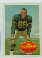 1960 Topps Football 58 Bill Forester Green Bay Packers Excellent to Excellent Plus