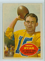1960 Topps Football 62 Frank Ryan ROOKIE Los Angeles Rams Excellent to Excellent Plus