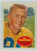 1960 Topps Football 65 Del Shofner Los Angeles Rams Very Good to Excellent