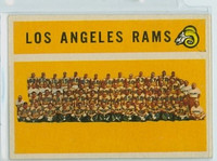 1960 Topps Football 71 Rams Team Very Good to Excellent