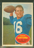 1960 Topps Football 74 Frank Gifford New York Giants Excellent to Mint