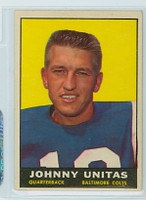 1961 Topps Football 1 Johnny Unitas Baltimore Colts Excellent to Excellent Plus
