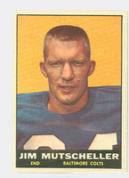 1961 Topps Football 5 Jim Mutscheller Baltimore Colts Very Good to Excellent