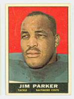 1961 Topps Football 6 Jim Parker Baltimore Colts Excellent to Mint