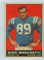 1961 Topps Football 7 Gino Marchetti Excellent to Mint
