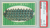 1961 Topps Football 9 Colts Team PSA 8 Near Mint to Mint