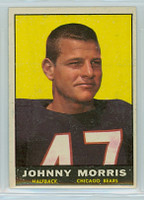 1961 Topps Football 11 Johnny Morris ROOKIE Chicago Bears Excellent