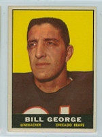 1961 Topps Football 16 Bill George Chicago Bears Excellent to Mint