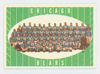 1961 Topps Football 18 Bears Team Very Good to Excellent