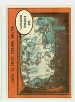 1961 Topps Football 19 Texas Football Dallas Texans Very Good