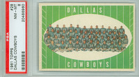 1961 Topps Football 28 Cowboys Team Dallas Texans PSA 8 Near Mint to Mint