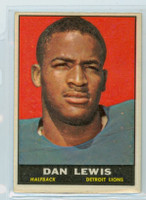 1961 Topps Football 30 Dan Lewis ROOKIE Detroit Lions Excellent