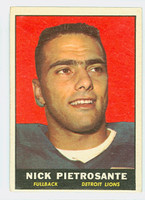 1961 Topps Football 31 Nick Pietrosante ROOKIE Detroit Lions Very Good to Excellent