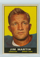 1961 Topps Football 34 Jim Martin Detroit Lions Excellent