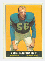 1961 Topps Football 36 Joe Schmidt Detroit Lions Very Good to Excellent